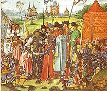 Daughter French King Marries King of England, Her Son Henry VI Became King of France & England (1422).