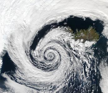 Arctic Hurricane, Eye SW Iceland