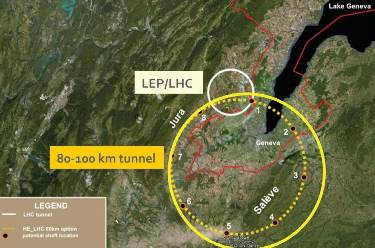 LHC & Proposed FCC Lurk Mostly Below France