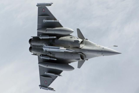 Serious Business: Rafale Carrying Six Beyond Visual Range Infra Red Missiles &, On Its Belly A 300 Kiloton H Bomb Capable Of Making 600 Kilometers In 8 Minutes. Sent To Poland.