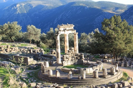 Delphi's Sanctuary Of Apollo (Who Spoke Through The Pythia)