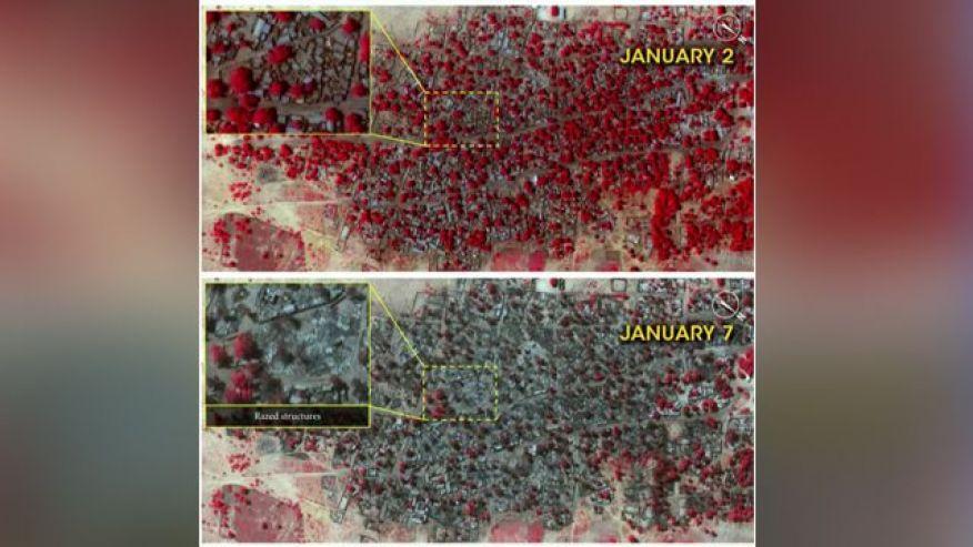 Islamist Destruction In Nigeria by Boko Haram. Source: Amnesty International