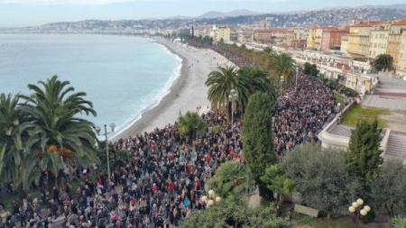 """Je Suis Charlie"" Demonstration in Nice"