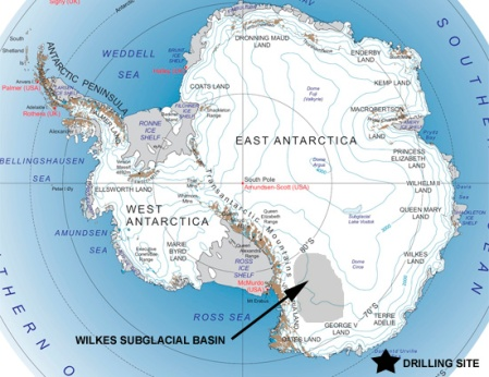 The Wilkes Subglacial Basin Was Part of the Ocean In the Pliocene, 5 Million Years Ago