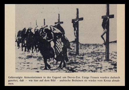 Turks Crucified Thousands Of Armenian Women. Here Arab Bedouins Are Rescuing Some Crucified Armenian Women