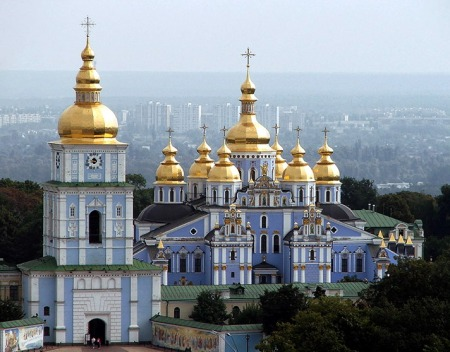 Saint Michael Cathedral, Kiev. It Survived the Mongols, Not Putin's Soviet Teachers