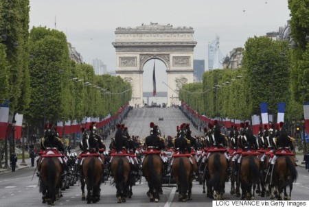 France, Joined By USA Sec. Of State John Jerry, Celebrate V Day, May 8, 2015
