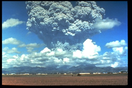 Pinatubo Warming Up, June 12, 1991