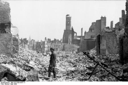 Hundreds Of Thousands Died In The Battle Of France. Calais, May 1940. The USA Sat On Its Hands, Apparently Waiting For Better Things To Come