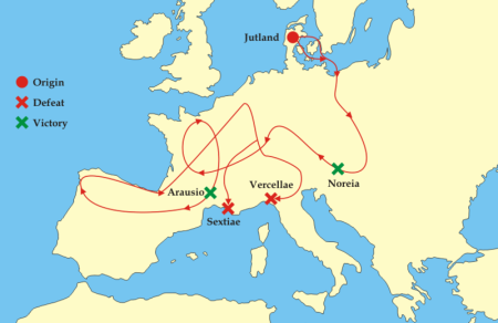 German Aggression Is Not New: Teutons' Attack On World, 120 BCE
