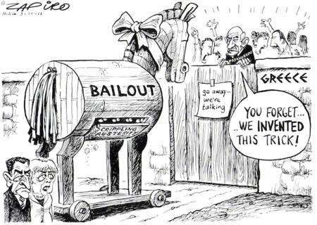 Sarko l'Americain & Merkel, NSA Spy, Offer IMF Trojan Horse To Greeks