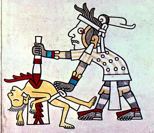 Aztecs' Description Of Paris, November 13, 2015: Jihadist Sacrificing Gourmet