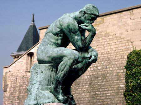 I Think, Therefore I Debate With Myself. Rodin Museum, Paris