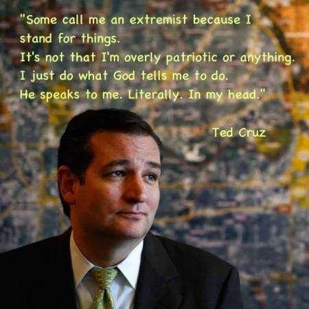 Senator Ted Cruz Does Not Need The Message From The Messenger Muhammad, He Has God In His Head