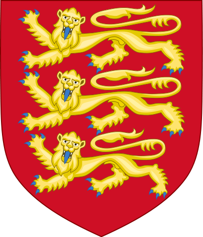Coat of Arms of England: 3 Blonde Beasts