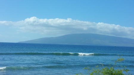 All This Was A Golden Beach, Now It IS Under Water. West Maui Coast, Facing Lanai.