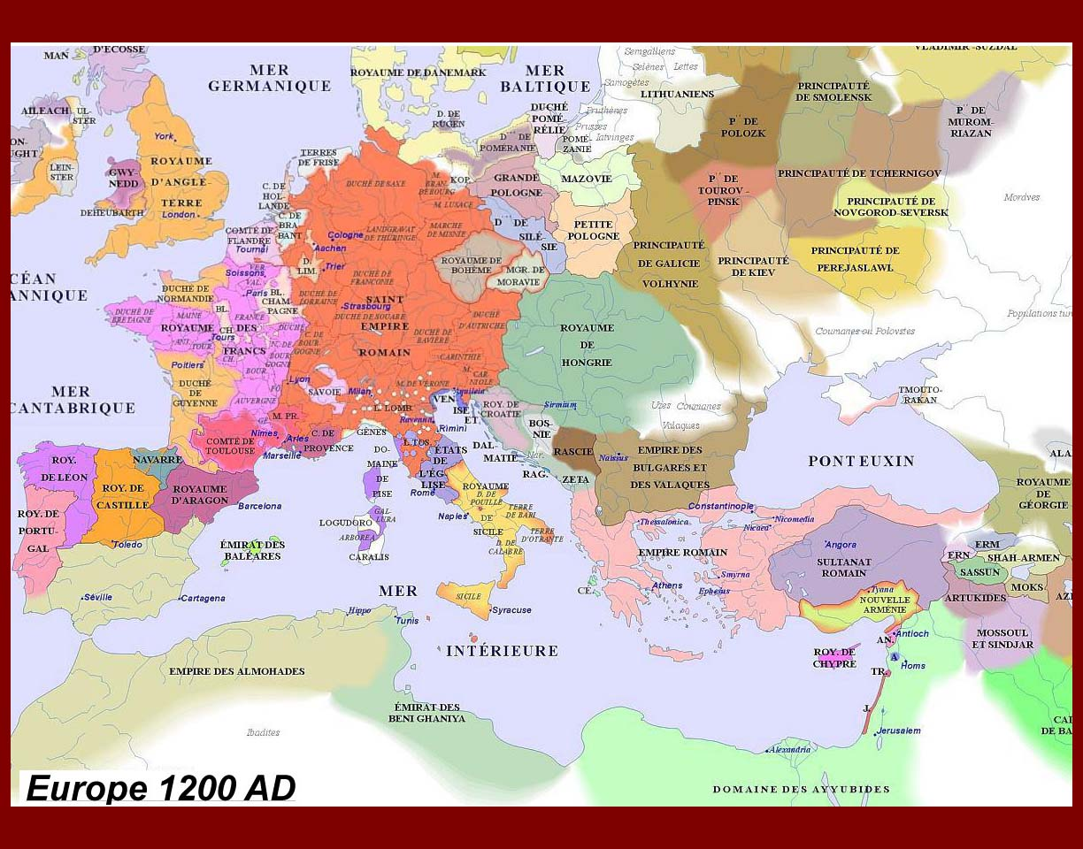 By 1200 CE, The Renovated Roman Empire of the Franks Had Become A Big Disunited Mess. Wars Blossomed All Over