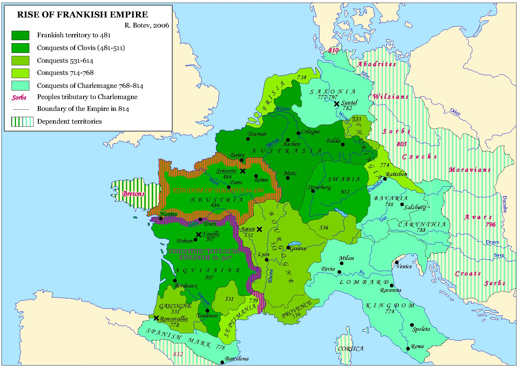Common Currency Area: Roman Empire Europe, 815 CE. In 1066 CE, the Franks Launched Their Re-Conquest of Great Britain