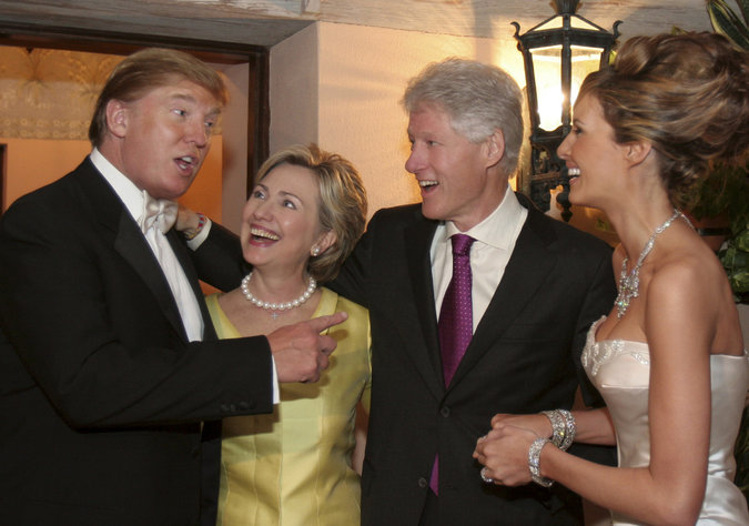 """Bill: """"Hey, Donald, We Gave You Everything, It's Our Turn To Lead the Low Lives Again!"""" Donald: """"You Mean the Idiots?"""" Hillary: """"Oh Donald, Don't Speak Like That!"""" [Then She Hilariously Bleats Like A Goat.] Donald, Less Amused: """"Can You Believe These People? They Are So Greeeedy!"""""""
