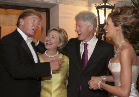 "Bill: ""Hey, Donald, We Gave You Everything, It's Our Turn To Lead the Low Lives Again!"" Donald: ""You Mean the Idiots?"" Hillary: ""Oh Donald, Don't Speak Like That!"" [Then She Hilariously Bleats Like A Goat.] Donald, Less Amused: ""Can You Believe These People? They Are So Greeeedy!"""
