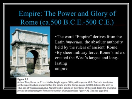 We Already Have A Better Understanding Of What Brought Rome Down The First Time, We Can No Doubt Avoid It, The Second Time, With Even More Understanding