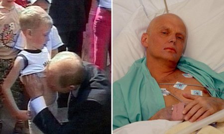 Putin At Work. Putin Loves the Fresh Bellies Of Boys. And Dead Rivals. Alexander Litvinenko Dying From Nuclear Poisoning In London.
