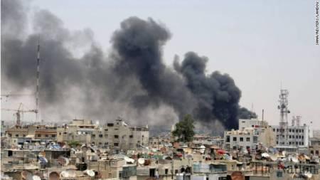 War Inside Damascus, Syria, February 2, 2016.