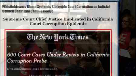 Not Just California Is Corrupt. Absolute Power Corrupts Absolutely, Especially When A One Is A Judge.