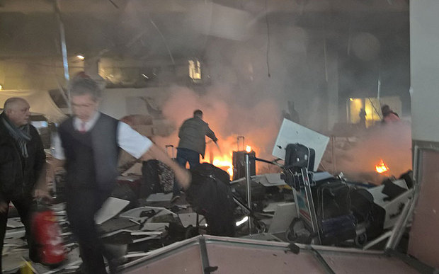 Those who have finished agonizing are at now peace, in Brussels airport, thanks to the religion of eternal peace