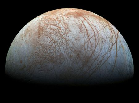 If Life Did Not Evolve In Europa, We Sure Can Correct That Oversight. What You See Is Water & (Organic?) Cracks