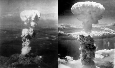 Game of Thrones, The Old Fashion Way: Killing 300,000, to Save Millions. Hiroshima Uranium Bomb Left, Nagasaki, Plutonium Implosion Bomb, Right.