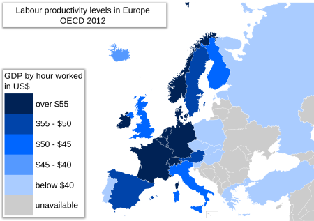 European Productivity, Especially In Franco-German Euro Zone, Has Long Been Higher Than In the USA. So The Scorn Of US Economists Should Consider This Important Fact