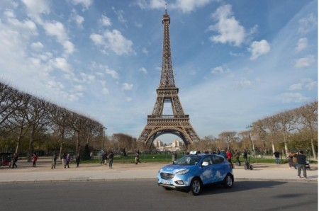 Forget Electric, Bring In Fuel Cell Hydrogen. In Paris, Only Hyundai Is Cooperative, So Far.