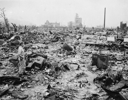 Want Peace? Don't Make War For the Worst Reasons. Hiroshima Roasted, 8 September 1945.