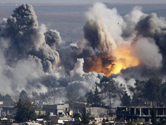 Big Bombs: Western Coalition Air Strike, Syria, 2015. The Islamist State Buries Underground