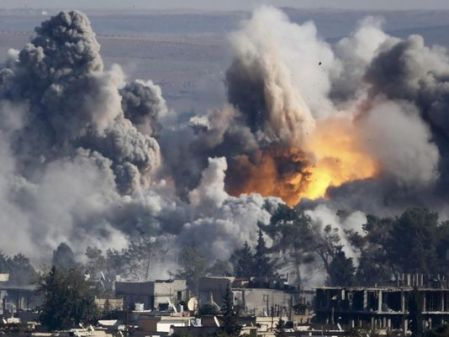 Big Bombs: Western Coalition Air Strike, Syria, 2015. The Islamist State Buries Underground