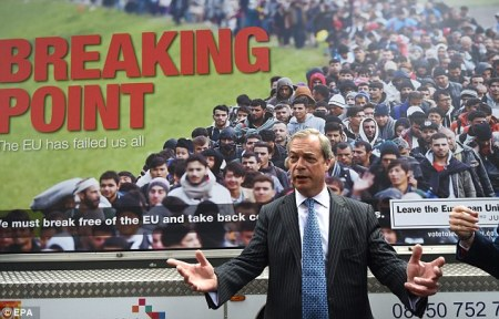 Head Of Brexit Faction, Nigel Farage, Said That, To Defeat The Muslim Refugee Flow, Britain Has To Close Her Borders With Europe. That Made His Popularity Surge