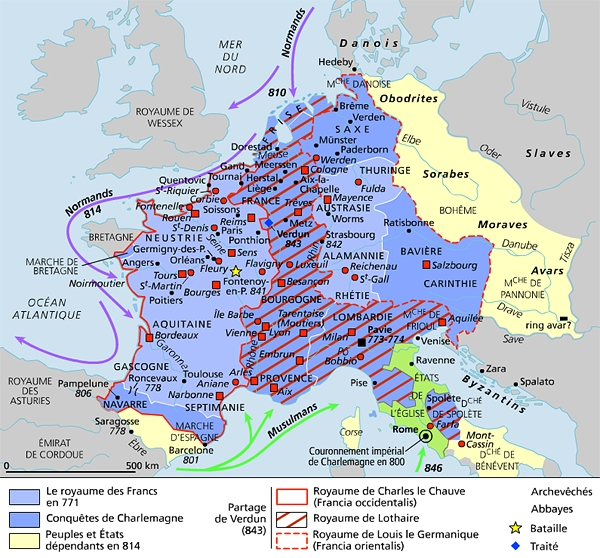 """Western Francia Proclaimed Her King """"EMPEROR IN HIS OWN KINGDOM"""" Exiting The Rest Of The """"Renovated Roman Empire"""". The Situation Got More Complicated When Western Francia Conquered England, Then Britain"""