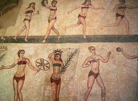 Roman Bikini Babes Frolicking In Gym, Centuries Before the Famous Rophet Married a Six Year Old