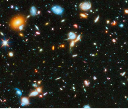 This Field Of Galaxies Defines An Absolute Frame. It Is Plain To See, Only Years Of Learning Academic Physics Can Brainwash Someone, Not To See It.