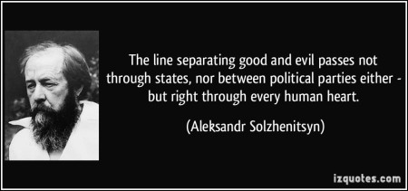 Right And Wrong Draws Another Line, Across Knowledge Bases. That the All Too Christian Solzhenitsyn Naturally Forgets
