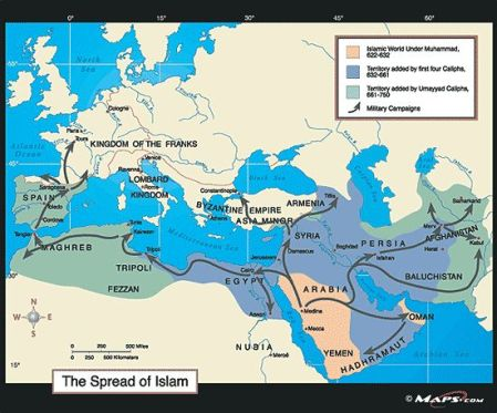 The Franks Fought Back Four Invasions in 715 CE, 721 CE, 732 CE & 737 CE To Islamist Caliphate Collapse in 750 CE.