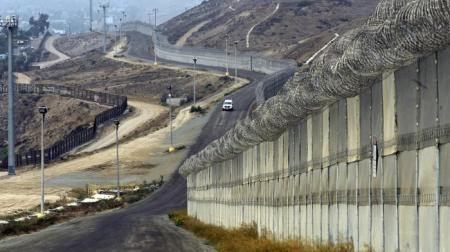 "Having Discovered The Wall Already Exists, Trump Concedes that ""a fence will be enough in some places"". Existing Wall Between USA and Mexico."