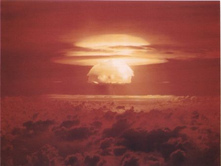 Castle Bravo H Bomb, 15 Megatons: Stronger Than Expected, Because, Unexpectedly, Lithium7, not just Lithium6 fabricated fast neutrons and Tritium . Severe Fall-Out. Yet, Nothing Like Tambora's Eruption In 1814. No Nuclear Winter