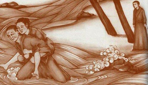 Crucifixion of naked women